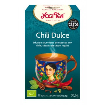 INFUSION CHILI DULCE 17X1 8G YOGI TEA