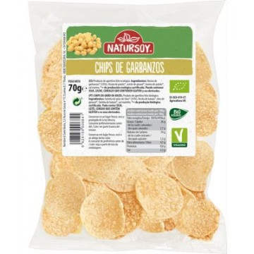CHIPS DE GARBANZOS 70G NATURSOY