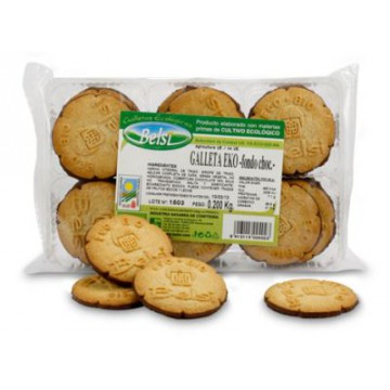 GALLETAS EKO DE TRIGO FONDO CHOCOLATE 200G BELSI
