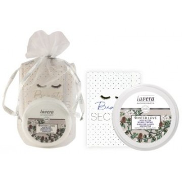 SET MANTECA CORPORAL VAINILLA Y ALMENDRA WINTER LOVE 150ML LAVERA